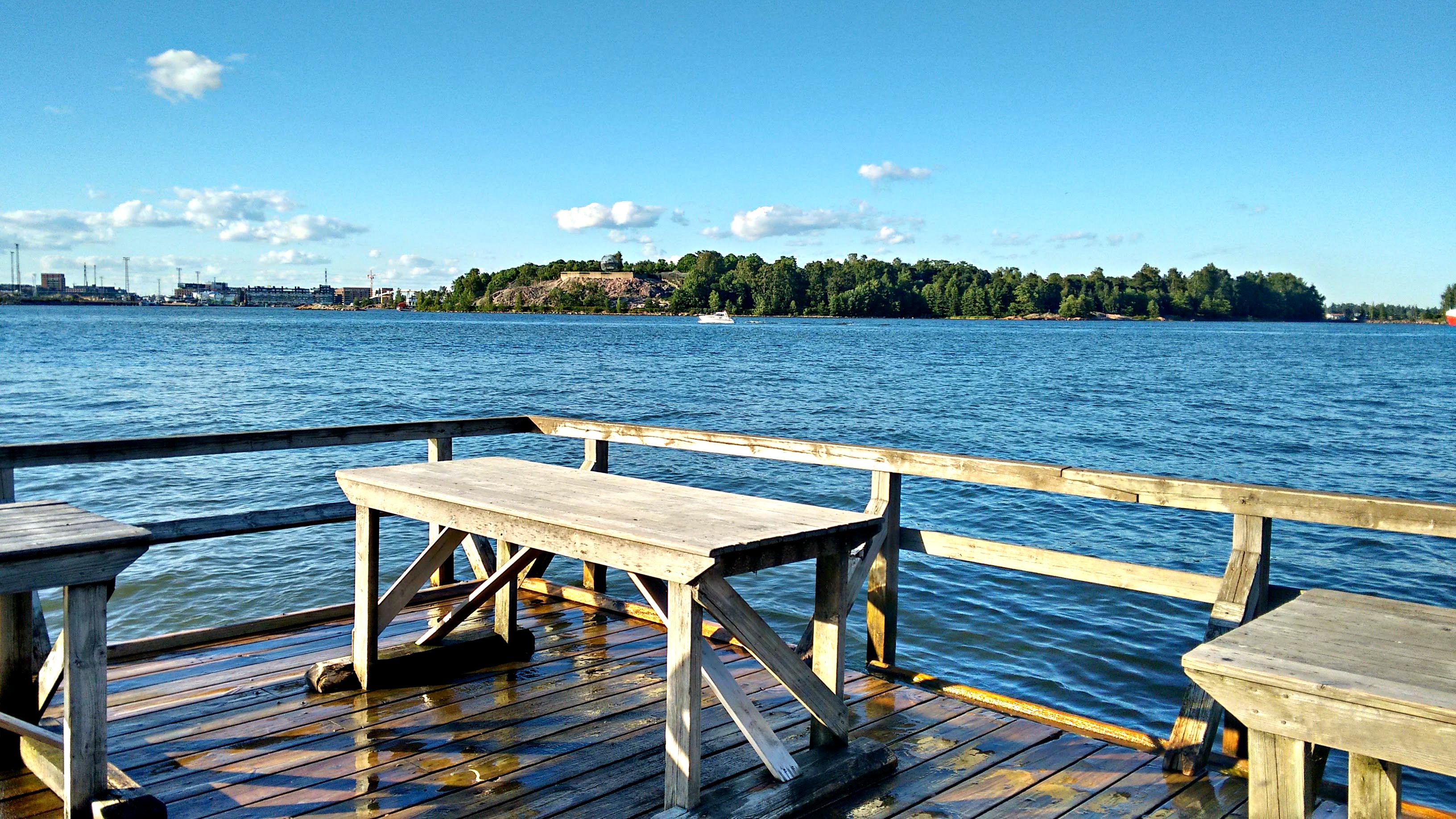 A floating dock in Helsinki