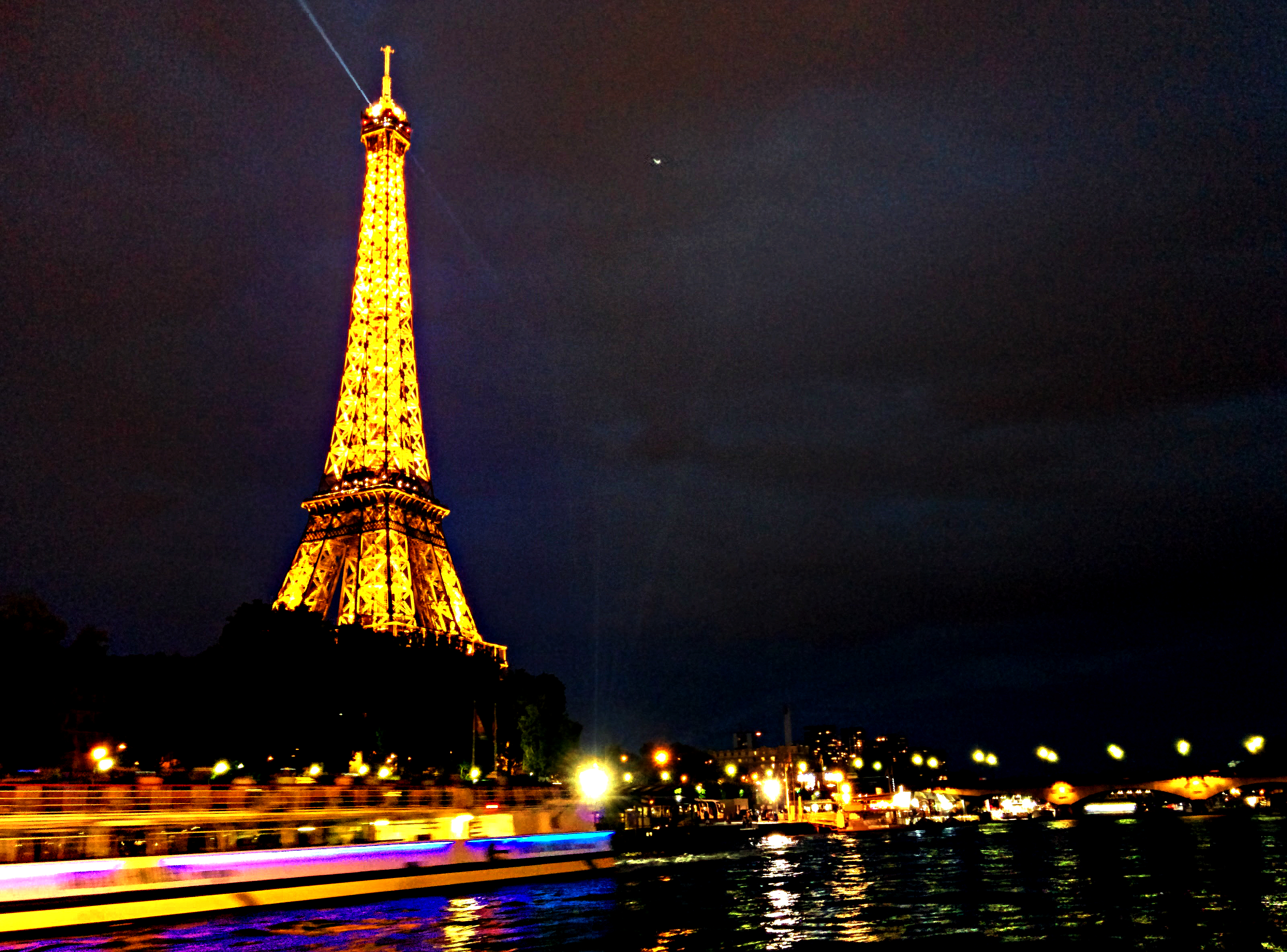 Paris-eiffel tower view from boat