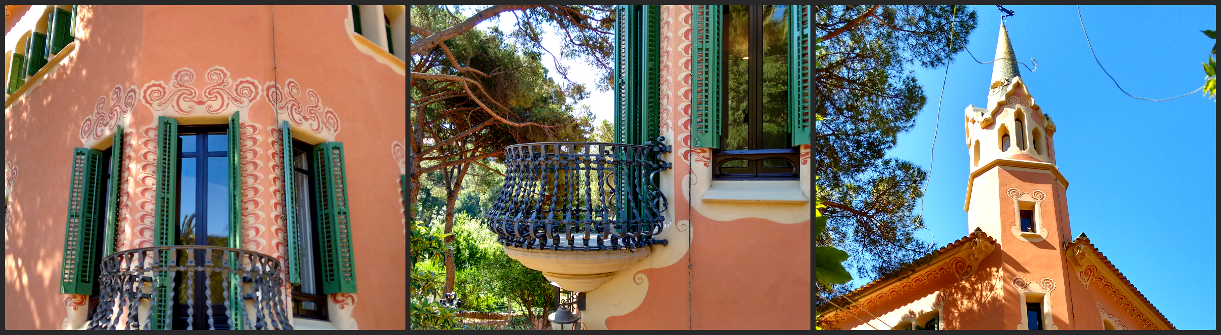 Antoni Gaudi's house inside Parc Guell (This little balcony is kinda cute)