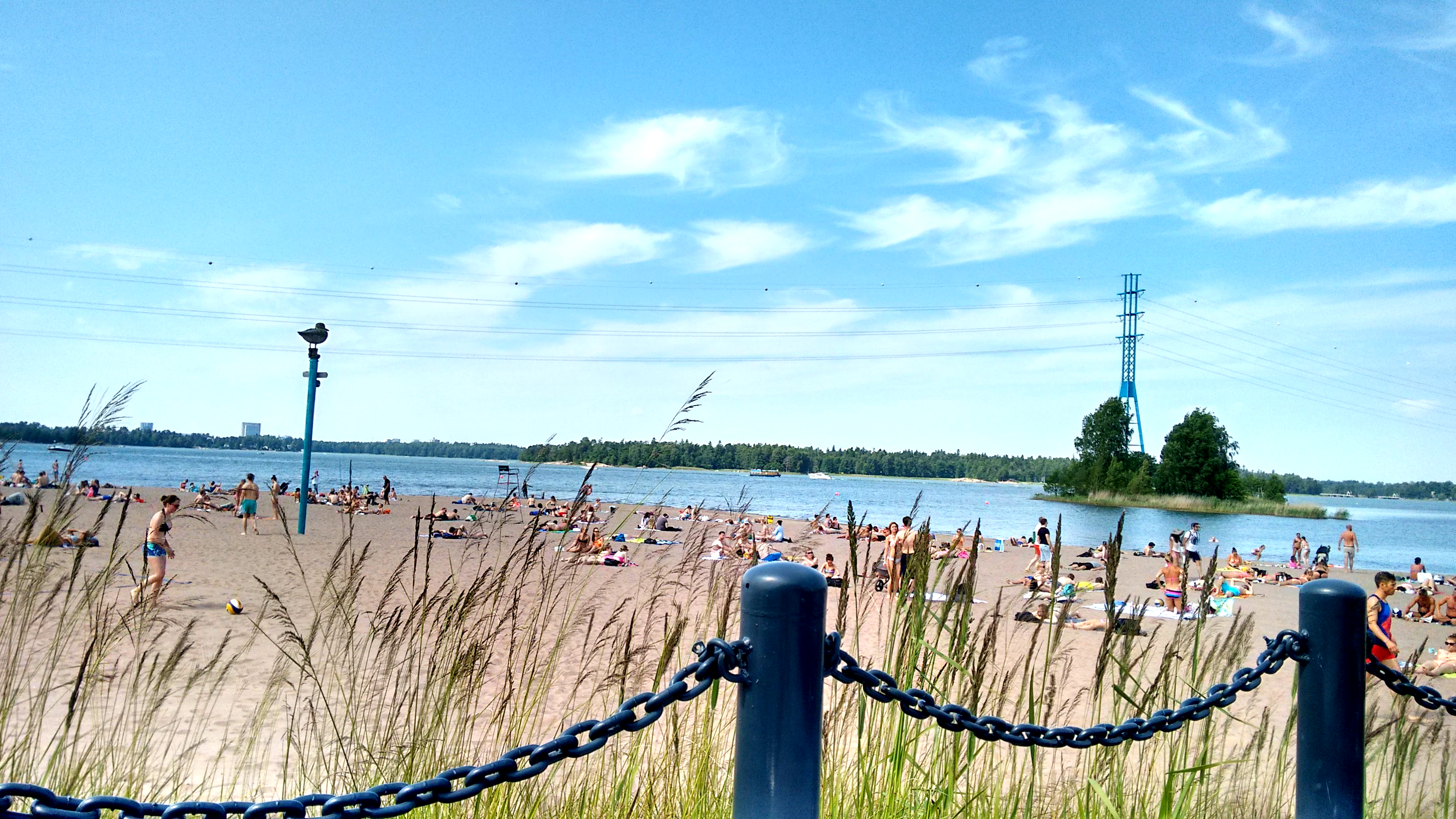 Hietaniemi Beach in summer