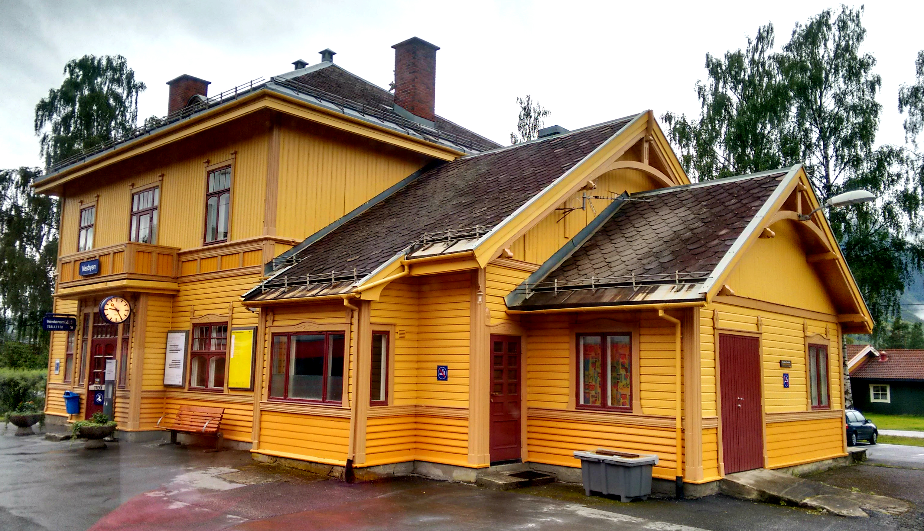 Storybook train stations! A train station in Oslo-Myrdal rail route